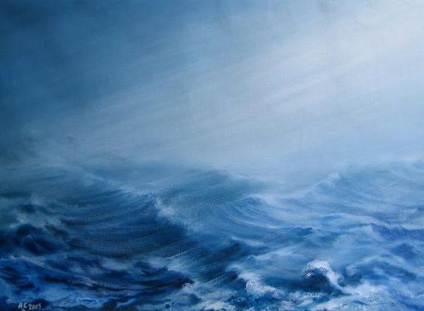 «  Meltem » huile sur toile, 50-70 cm