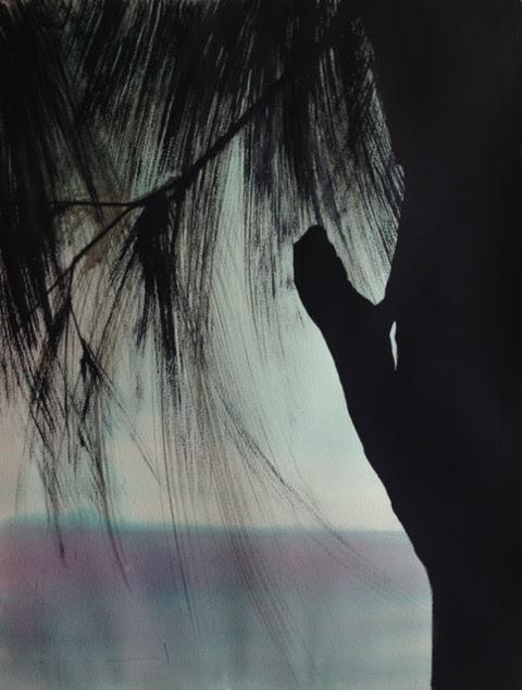 « Lézard », gouache sur papier, 50-65 cm