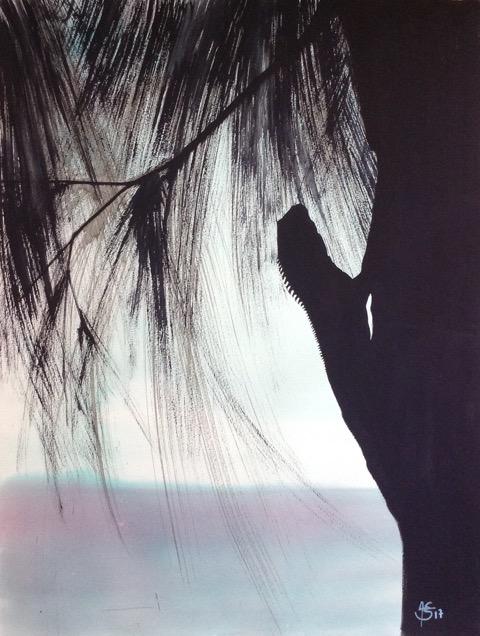 « Lézard », gouache sur papier, 50-65 cm (NON DISPONIBLE)
