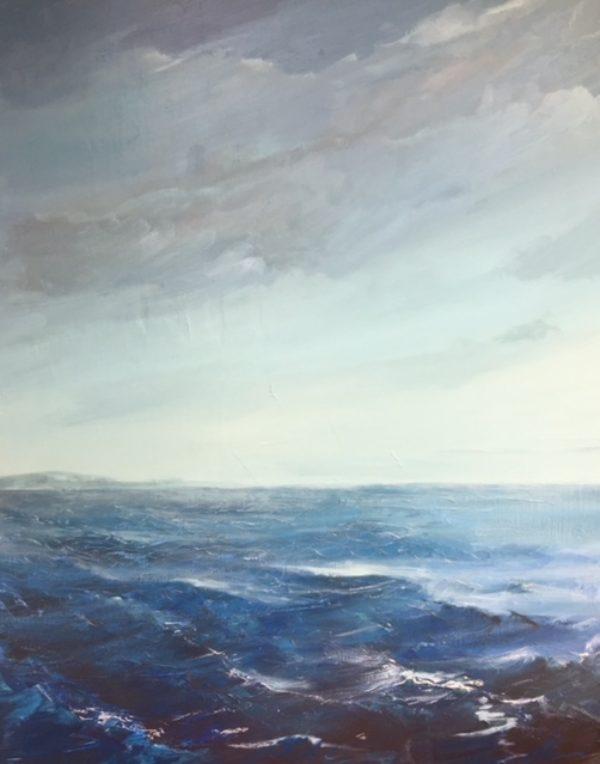 « Porquerolles », huile sur toile, 60-73 cm