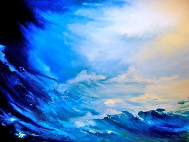 Après la tempête.. » huile-papier 50-65 cm