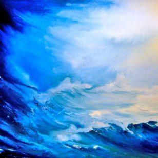 « Après la tempête.. », huile_papier, 50_65 cm