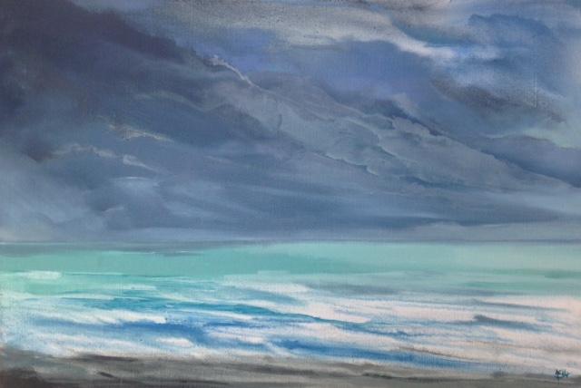 « Pirou »,huile sur toile, 64-84cm
