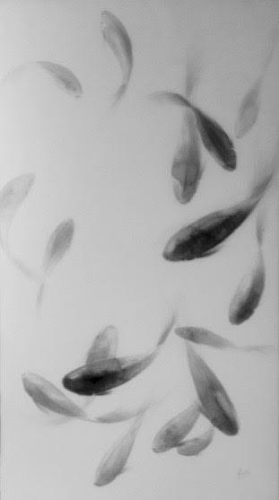 « Danse », encre de chine sur papier, 100-200 cm<br /> Non disponible