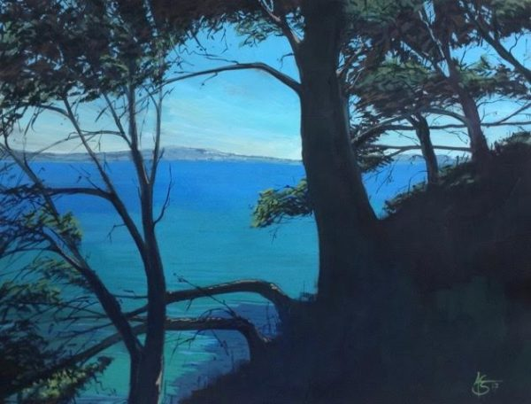 « Méditerranée », gouache sur papier, 50-65 cm