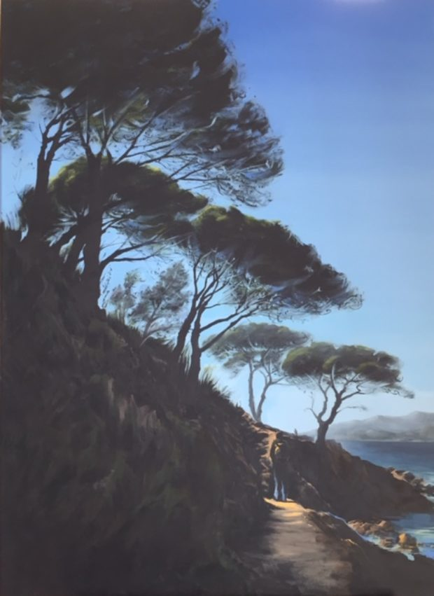 Welcome to St-Tropez, huile-sur-toile, 73/100 cm